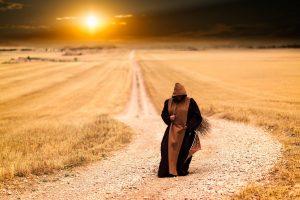 kroczący mnich